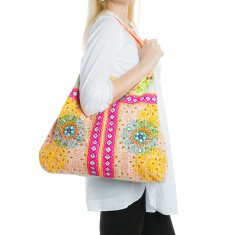 Fabric bag in pink