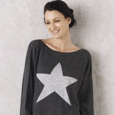 Star Sweater In Charcoal