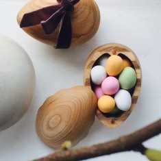 Wooden Salt Egg Cellar