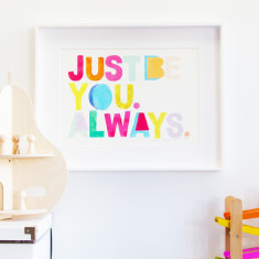 Just be you always print in pink