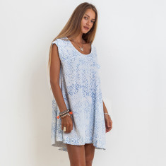 Isla Sasak Dress In Blue