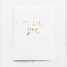 Thank You Gold Foil Greeting Cards (Pack of 6)