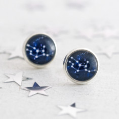 Personalised Zodiac Constellation Stud Earrings