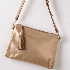 Annette cross body bag in rose gold