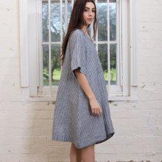 Stevie Dress in Chambray Stripe