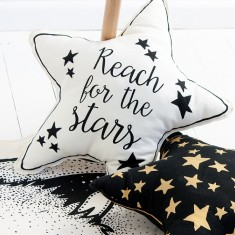 Reach for the Stars Hand Printed Star Cushion