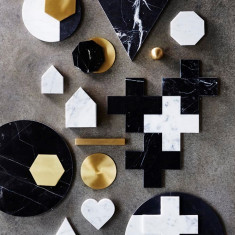 Black Marble Cross Trivet