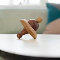 Ballerina Wooden Spinning Top