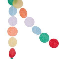 Tissue dot garland in rainbow