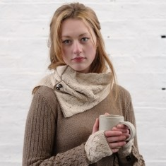 Alpaca cable knit snood