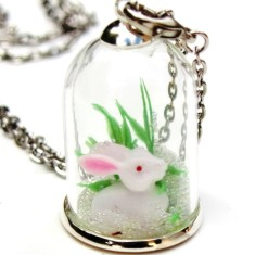 Make-your-own woodland pendant kit in rabbit