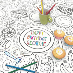 Personalised Party Colour in Tablecloth
