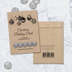 Threepence coins Christmas puddings pack