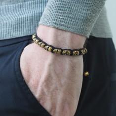 Men's bronze skull bracelet