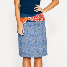 Rosanna Skirt - Blue Spots (2 lengths available)