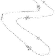 Lucky necklace sterling silver set with crystals
