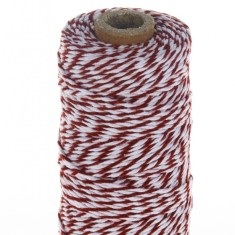 Cotton bakers twine in candy red (100m roll)