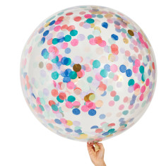 Peacock Jumbo confetti balloons (pack of 2)