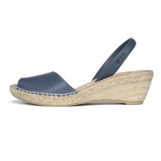 Bosc leather sandals in denim