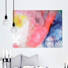 Fader colourful abstract canvas