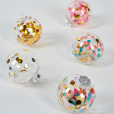 Confetti filled baubles (pack of 5)