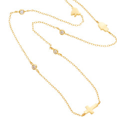 Lucky Charm necklace in gold vermeil