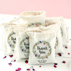Personalised Wedding Wreath 'Thank You' Favour