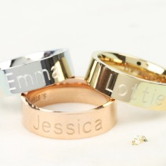 Personalised Wide Stainless Steel Band Ring
