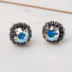 Round Multi-Coloured Stud Earrings