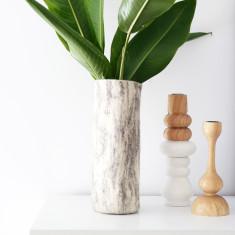 Marble felt vase sleeve