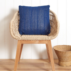 Miami Foil Lined Cotton Knit Cushion