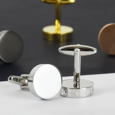 Solid Disc Personalised Cufflinks