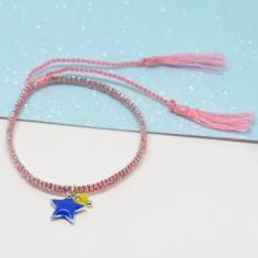Baby Pink Bracelet with Enamel Star