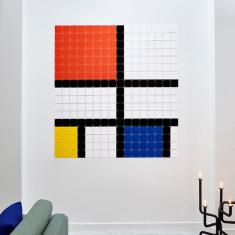 IXXI Mondrian pixel wall art