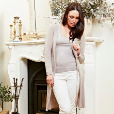 Longline cardigan in smoke