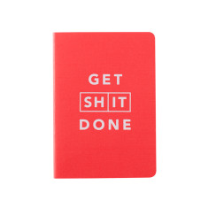 Get Sh*t Done Classic Notebook A6 - Red