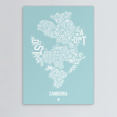 Canberra canvas print (various colours)