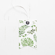 Botanical print gift tags (set of 6)