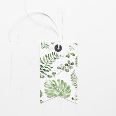 Botanical print gift tags (set of 6)