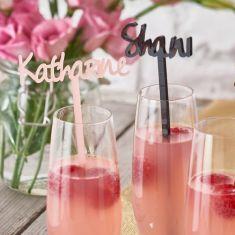 Personalised Cocktail Drinks Stirrer - set of 2