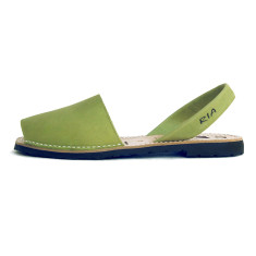 Morell leather sandals in pistachio green