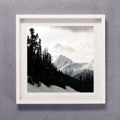 Snowscape Square Photographic Print in Black & White