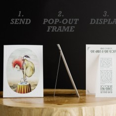 Pop-out stationery set