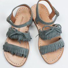 Girls' Baja fringe sandals