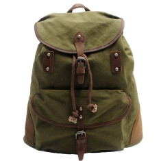 Green canvas travel bag backpack bag