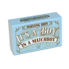 Personalised Nappy Pin Keepsake In A Matchbox (Baby Boy)