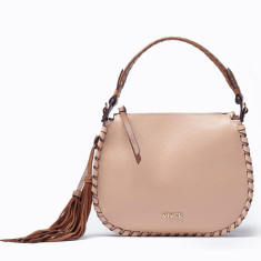 3a7889f103 Avril Leather Womens Satchel Pearl