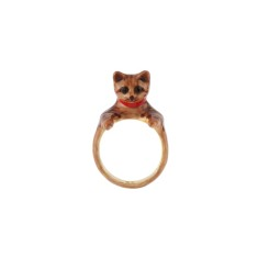 Brown cat ring
