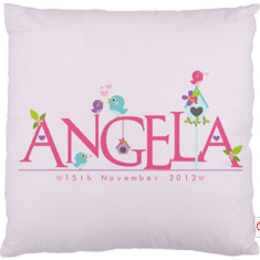 Girls' personalised name cushion covers (various designs)