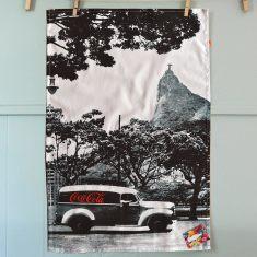 Retro Coca-Cola van tea towel (Rio de Janeiro)